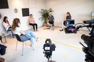 Diskussion beim eigenlebenFestival zwischen Friederike Streib, Christa Ritter und Lena Schneck. Foto: Sabine Schulte