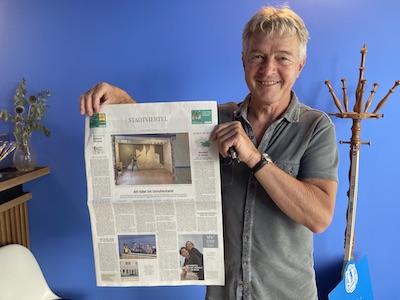 Karl Newedel mit SZ Artikel